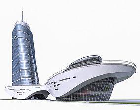 High-rise Office Building 02 3D asset