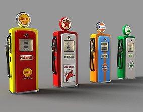 3D old Gas Pumps