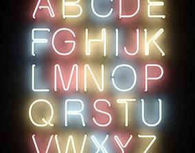 3D Neon Tube Alphabet