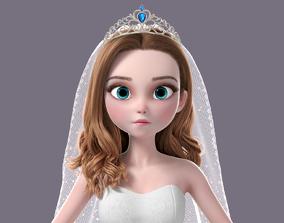 3D model Cartoon Bride NoRig