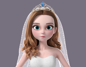 3D Cartoon Bride NoRig