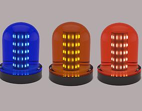 3D model Warning Light Blue Orange Red