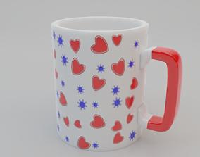 3D asset Mug with a pattern