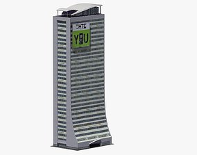 Skyscraper Building 3D asset game-ready york