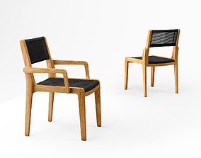 3D model Oasiq Skagen chair and armchair