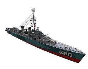 3D model USS Fletcher Destroyer