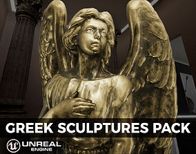 3D model Detailed Greek Statues