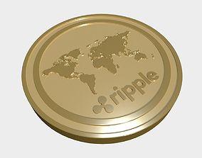 Ripple coin 3D model