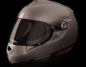 superbike 3D model Motorcycle Helmet
