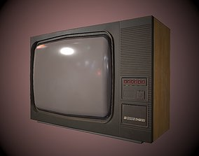 3D model Retro Television Foton made in USSR