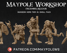 GNOLL PACK 28 mm miniatures for tabletop 3D print model