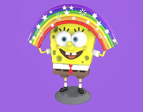 Spongebob with Rainbow 3D print model