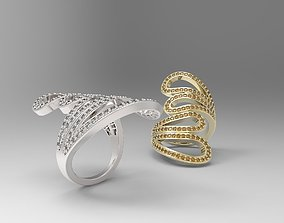 Loop Ring with small gems 3D printable model