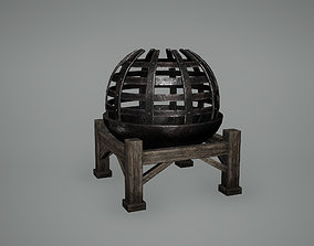 Viking Fire pit Low Poly Game Ready 3D asset
