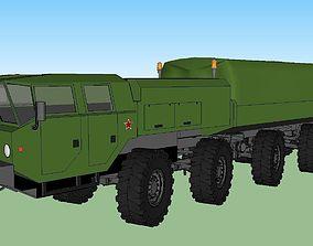Maz Big Army Military Transport Truck 3D asset