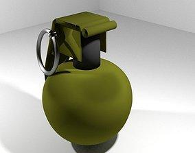 3D Hand Grenade Fragmentation sphere shape