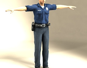policeman Police Officer 3D Model