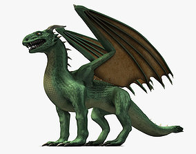 3D model Winged Green Dragon