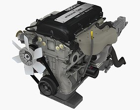 Nissan SR20DET Black Top engine 3D asset VR / AR ready