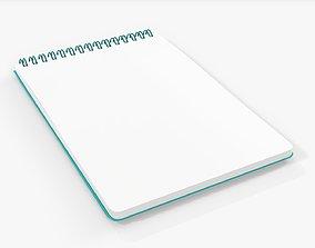 Sketchbook with spiral 06 3D