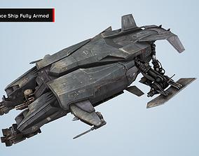 SciFi Interceptor Space Ship - Alien Space 3D model 3