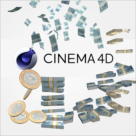FALLING MONEY AND RAIN MONEY AND FALLING   CINEMA 4D