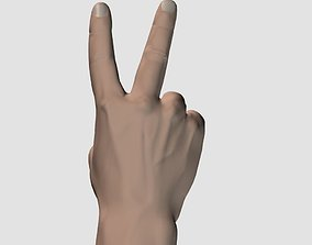 3D model Hand peace