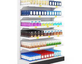 Supermarket Shelf 3D model vray-material