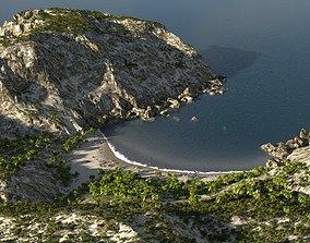 Sandy bay in Blender 3D