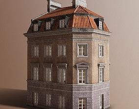 3D asset European tenement 01