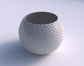 Bowl spheric with diagonal grid bulges 3D print model
