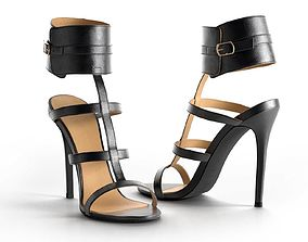 nika 3D model Nika Ankle Cuff High Heels