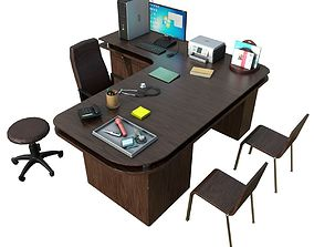 3D asset Clinic Desk with Accessories