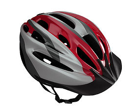 3D bicycle helmet with visor