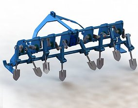 spading machine - 3d model
