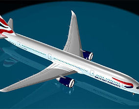 British Airways 787-9 3D model