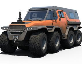 off Avtoros Shaman 8x8 3D model