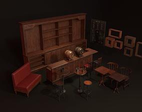 Vintage Bar Props 3D model