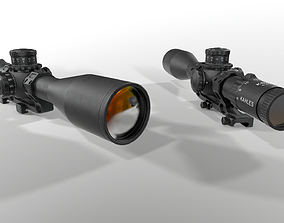 3D asset Kahles K624i 6-24x56mm Precision Rifle Scope