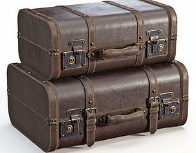 Brown Vintage Suitcases 3D model