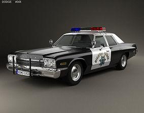 3D model Dodge Monaco Police 1974