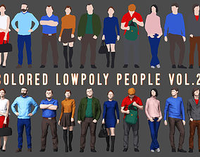Colored Lowpoly People 3D asset realtime