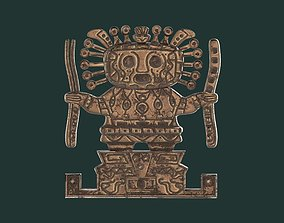 3D model Viracocha Ancient Inca God