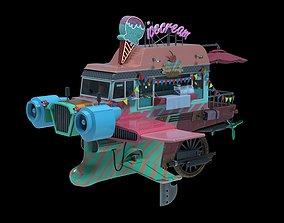 3D asset Flying Ice Cream Truck