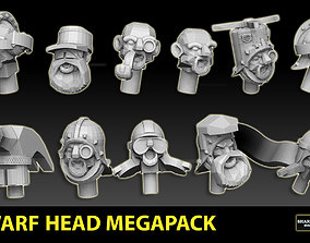 3D printable model Dwarf Head Megapack