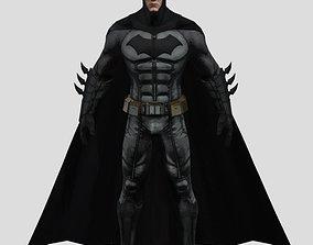 Batman body-suit with overcoat Movie action 3D print model