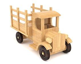 3D Wooden toy truck 11