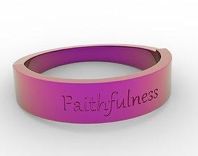 3D printable model Faithfulness Female ring pink