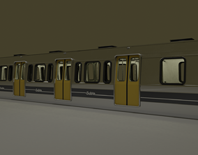 Subway train from Buenos Aires metro 3D