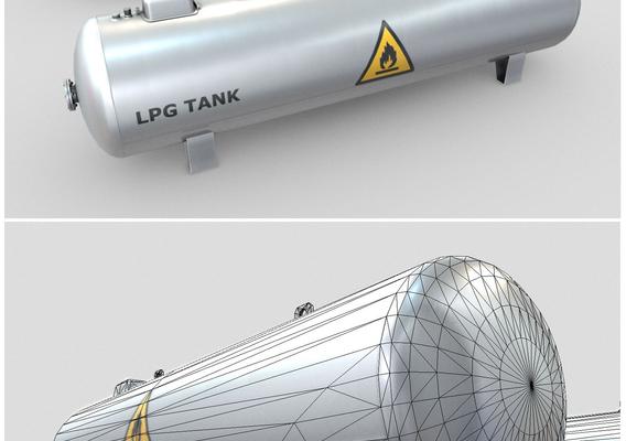 LPG Tank Low-Poly